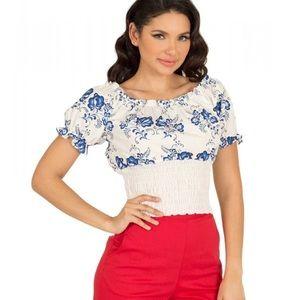 BNWT Tatyana Belinda Blouse XS 100% cotton top